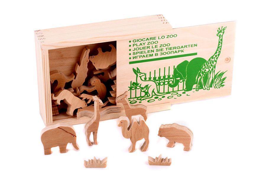 Играем в зоопарк: объемные фигуры 24 детали 20.50х14.50х5.50