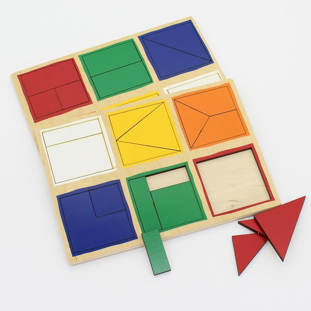 Деревянные планшеты Сложи квадрат Никитиных 1й уровень 28 деталей 20.50 х 14.50 х 0.70