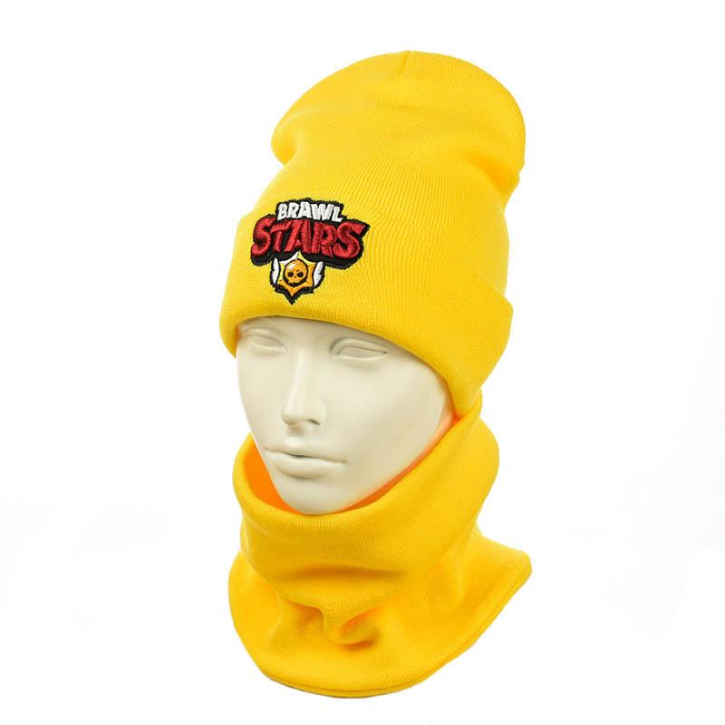 "Зимний подростковый комплект  ""Brawl Stars"" желтый"