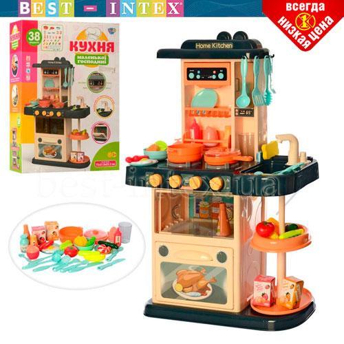 Игровая детская кухня Limo Toy 889-181 вода , свет, звук, 38 предмета