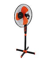 Напольный вентилятор MS 1619 fan ЧЕРНО-ОРАНЖЕВЫЙ | Вентилятор бытовой с автоповоротом 3 режима