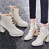 Водонепроникні черевики Martin на високому каблуці на платформі; універсальні жіночі модні короткі чоботи; білі чоботи на товстому каблуці;