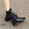 Черные женские ботинки Martin, новинка 2020 года, короткие сапоги на толстом каблуке в диком британском стиле, женские весенне-осенние одиночные