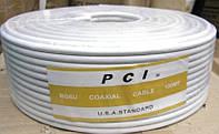 Кабель PCI RG6U U.S.A. Standart 100 m Жел. эт.