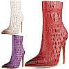 Высококачественные индивидуальные европейские и американские горячие сексуальные короткие ботинки 12 см на сверхвысоком каблуке-шпильке для ночного