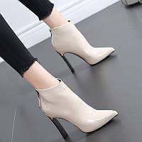 Осенне-зимние новые ботинки Martin 2020, женские короткие сапоги в британском стиле, высокие каблуки, толстый каблук, стразы и сетка, красные тонкие, фото 1
