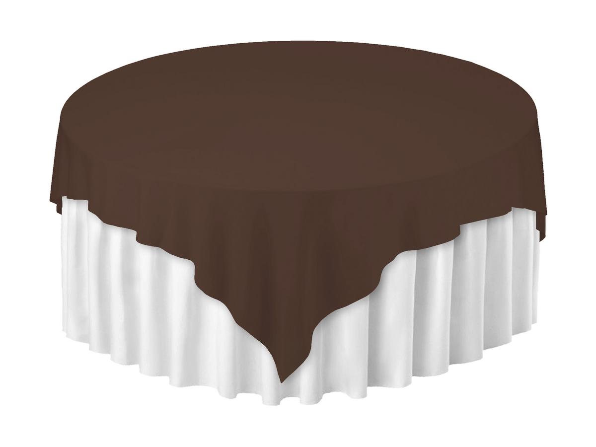 Скатертина 220х220см Шоколадний з просоченням Тефлон (Т-310) Наперон Туреччина на стіл Ø180см