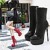 Vibrato Explosion Сексуальні високі чоботи великого розміру 15 см Hengtian з лакованої шкіри на тонкому каблуці Водонепроникні короткі черевики