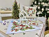 """Наперон\доріжка на стіл """"Різдвяна зірка"""", 37х100 див., фото 4"""