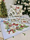 """Наперон\доріжка на стіл """"Різдвяна зірка"""", 37х100 див., фото 5"""