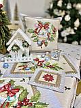 """Наперон\доріжка на стіл """"Різдвяна зірка"""", 37х100 див., фото 7"""