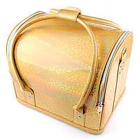 Сумка-чемодан для мастера маникюра, золотой хамелеон