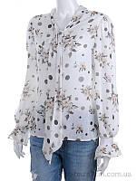 """Блузка женские """"Forsage"""" 2980-1 white (One-size) - купить оптом на 7км в одессе, фото 1"""