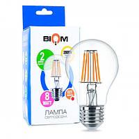 Світлодіодна лампа BIOM FL-311 8W A60 E27 (теплий білий)