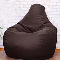Бескаркасное мягкое кресло-мешок, Груша пуф коричневый, оксфорд, XXL