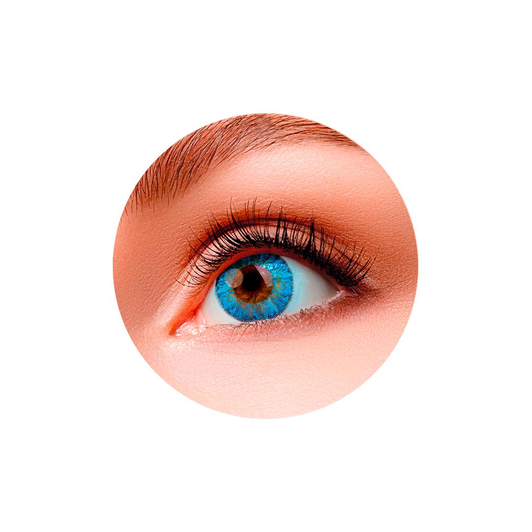Цветные контактные линзы (Blue) Silicos (2шт)
