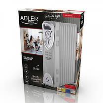 Обогреватель маслянный Adler AD 7808 на 9 секций мощность 2000w, фото 2