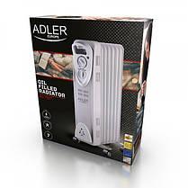 Обогреватель маслянный Adler AD 7807 на 7 секций мощность 1500w, фото 2
