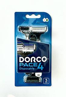 Одноразові станки для гоління DORCO PACE 4 (3 шт) (FRA100-3b) 01555