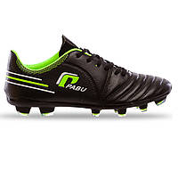 Бутсы футбольные PABU PB821 размер 43 Black-Green, фото 1