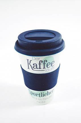 Кофейная кружка to go becher 350ml bambus Der Kaffe, фото 2