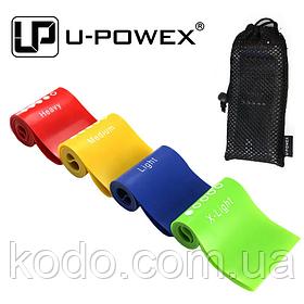 Набор фитнес резинок для фитнеса U-Powex из 4 лент и чехла (без черной резинки). ОРИГИНАЛ. Резинки Хит США!