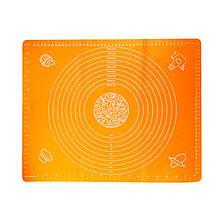 Коврик-подложка для раскатывания теста 40*50 см, оранжевый