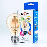 Светодиодная лампа BIOM FL-411 8W A60 E27 (2300-2500К) Бронзовое стекло