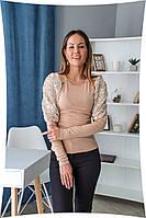 Женская трикотажная блуза больших размеров, фото 1