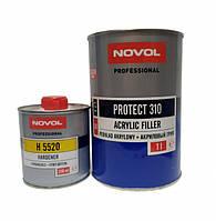Акриловый грунт Novol Protect 310 (4+1 НS) комплект 1л серый + 0,25л отв.