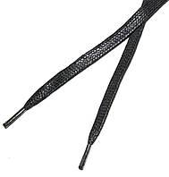 Шнурки в туфли плоские, пропитка 70см Темно-серый