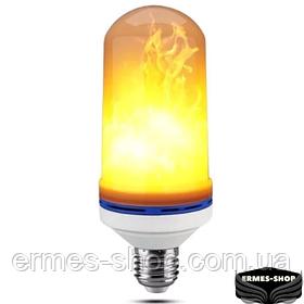 Лампа LED Flame Bulb с эффектом пламени огня