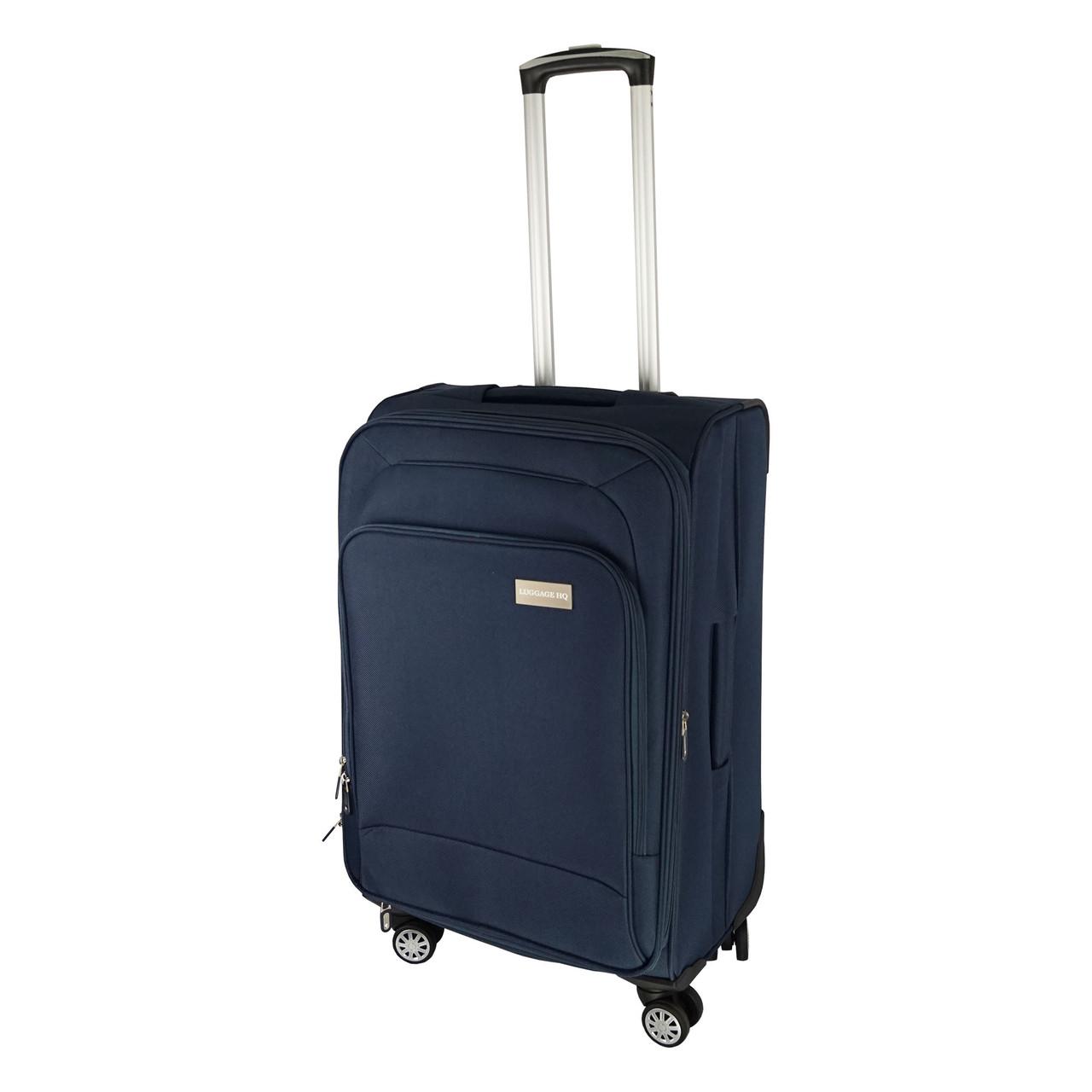 Чемодан на колесиках Luggage HQ (77х45 см) большой, синий