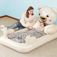 Детская надувная односпальная кровать Bestway 67712 Мишка Teddy, 109 х 188 х 89, фото 1