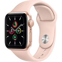 Смарт-часы Apple Watch SE GPS 40mm Gold Aluminum Case w. Pink Sand Sport B. (MYDN2)