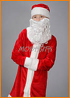 Детский костюм деда мороза красный велюр