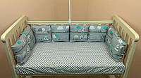 Бортики и комплекты в кроватку Т.М.Миля 30 см х 30 см в комплекте 12 шт.