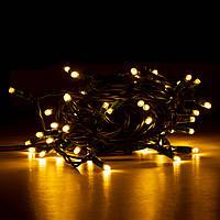 Электрогирлянда LED уличная Yes! Fun, 65 ламп, IP 65, тепло-белая, зеленый провод, 12.25м