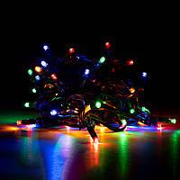 Электрогирлянда LED уличная Yes! Fun, 65 ламп, IP 65,многоцветная, 12,25 м, провод зеленый