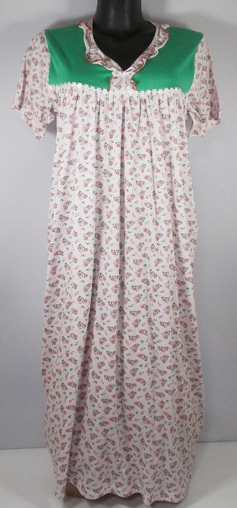 Ночная сорочка Узбекистан 100% хлопок №1 размер 50-52 (в груди 104 см)