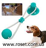 Игрушка для собак канат на присоске с мячом WM-60, фото 2
