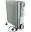 Обогреватель масляный радиатор Сrownberg CB-9-S Серый 2000W, фото 2