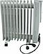 Обогреватель масляный радиатор Сrownberg CB-9-S Серый 2000W, фото 4