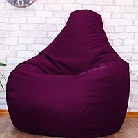 Бескаркасное мягкое кресло-мешок, Груша пуф бордовый, оксфорд, XXL