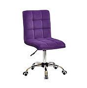 Кресло офисное  на колесах  AUGUSTO  СН-OFFICE  бархат , пурпурный  B-1013