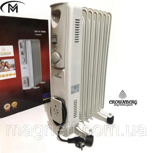 Обігрівач масляний радіатор Сrownberg CB-7-S 1500W