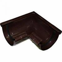 Угол желоба 90˚ коричневый, 125, Альта-Профиль, фото 1