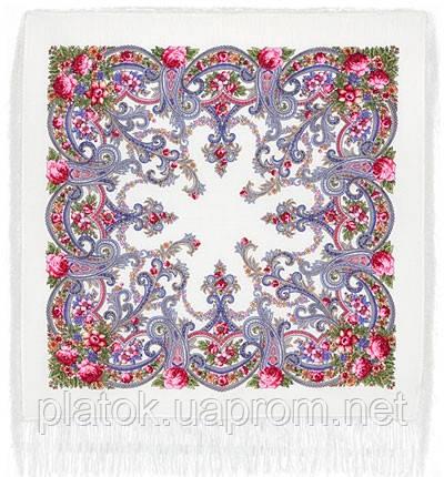 Милый друг 1345-1, павлопосадский платок шерстяной  с шелковой бахромой