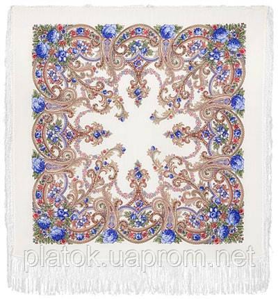 Милый друг 1345-4, павлопосадский платок шерстяной  с шелковой бахромой