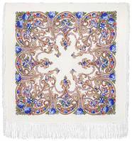 Милый друг 1345-4, павлопосадский платок шерстяной  с шелковой бахромой, фото 1